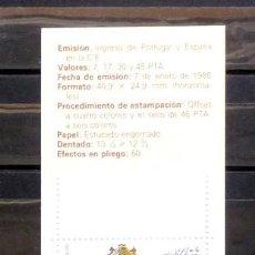 Sellos: E·SPAÑA- CARNET 1986. Lote 118885087