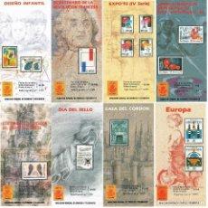 Sellos: ESPAÑA 1989 19 FOLLETOS SUELTOS VER EXPLICACIÓN 3 FOTOGRAFÍAS. Lote 118953071