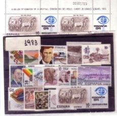 Sellos: ESPAÑA.- AÑO 1983 COMPLETO CON SELLOS Y MINIPLIEGO. NUEVO SIN CHARNELA. . Lote 131179935