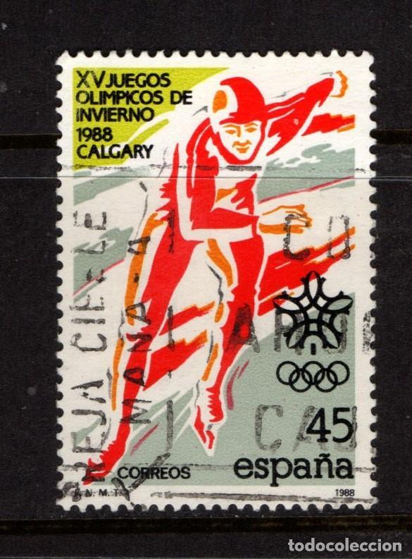 ESPAÑA 2932 - AÑO 1988 - JUEGOS OLIMPICOS DE INVIERNO, CALGARY 88 (Sellos - España - Juan Carlos I - Desde 1.986 a 1.999 - Usados)