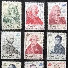 Sellos: REYES DE ESPAÑA, CASA DE BORBÓN. EDIFIL 2496 A 2505. 1978.. Lote 119228243