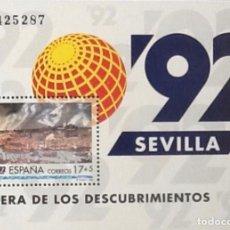 Sellos: EXPO'92, HOJA-BLOQUE. EDIFIL 3191. 1992.. Lote 119257603