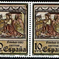 Sellos: ESPAÑA 1980. NAVIDAD 1980 - EDIFIL 2568/2569 - (**). Lote 119274127