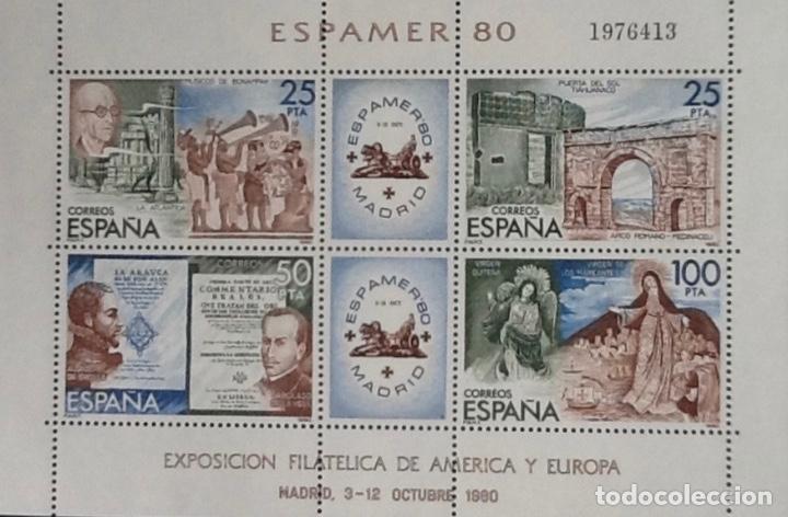 ESPAMER'80. HPJA-BLOQUE, EDIFIL 2583. 1980 (Sellos - España - Juan Carlos I - Desde 1.975 a 1.985 - Nuevos)