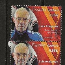 Sellos: R13/ ESPAÑA EN NUEVO** 2015, EDF, 4962, LUIS ARAGONES. Lote 119974478