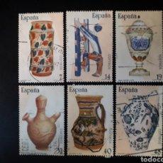 Selos: ESPAÑA. EDIFIL 2891/6. SERIE COMPLETA USADA. PATRIMONIO ARTÍSTICO. CERÁMICA. 1987.. Lote 120586863
