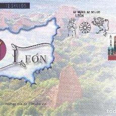 Sellos: CATEDRAL DE LEÓN 2018 (VARIEDAD...IMAGEN DE BURGOS EN LUGAR DE LEÓN ). SOBRE PRIMER DÍA 02-04-2018.. Lote 199873778