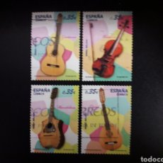 Sellos: ESPAÑA. EDIFIL 4628/31. SERIE COMPLETA USADA. INSTRUMENTOS MUSICALES. 2011.. Lote 121300979