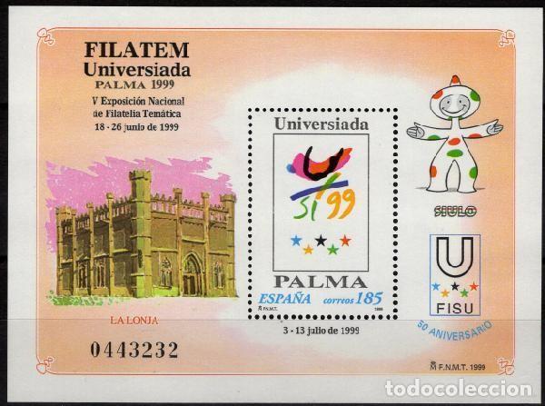 ESPAÑA 1999. EDIFIL 3648 MNH. FILATEM-UNIVERSIADA PALMA 1999 (Sellos - España - Juan Carlos I - Desde 2.000 - Nuevos)