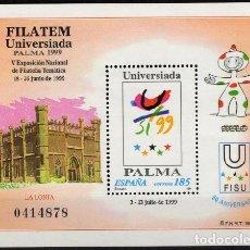 Sellos: ESPAÑA 1999. EDIFIL 3648 MNH. FILATEM-UNIVERSIADA PALMA 1999. Lote 121416267