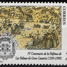 Sellos: ESPAÑA 1999. EDIFIL 3649 MNH. IV CENTENARIO DE LA DEFENSA LAS PALMAS DE GRAN CANARIA. Lote 121416363