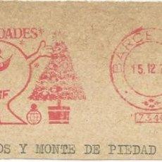 Sellos: AÑO 1978. FRANQUEO MECÁNICO. FRAGMENTO. BARCELONA. CAJA DE AHORROS SAGRADA FAMILIA. NAVIDAD.. Lote 121472403