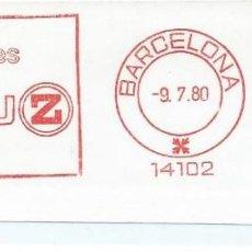 Sellos: AÑO 1980. FRANQUEO MECÁNICO. FRAGMENTO. BARCELONA. Z ES LUZ. . Lote 121472575