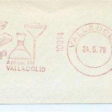 Sellos: AÑO 1979. FRANQUEO MECÁNICO. FRAGMENTO. VALLADOLID. INDALUX - ALUMBRADO TÉCNICO. MÁQUINA 10814.. Lote 121473747