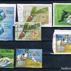 Sellos: ESPAÑA 2011 EDIFIL 4639 A 4642 CON SUS FRAGMENTOS RESPECTIVOS (VALORES CÍVICOS). Lote 121658239