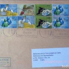 Sellos: CARTA FRANQUEADA CON LA SERIE VALORES CÍVICOS. EDIFIL 4639/42.. Lote 121712483