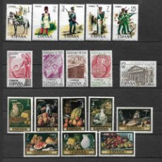 Sellos: SPAIN 1976 LOT STAMPS COMPLETE SETS MNH - 12/29. Lote 121815571