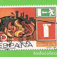 Sellos: EDIFIL 2733. PREVENCIÓN DE ACCIDENTES LABORALES. - PELIGRO DE FUEGO EN TALLERES Y FÁBRICAS. (1984).. Lote 121900679