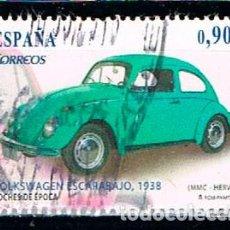Sellos: EDIFIL 4788 C, COCHES DE EPOCA, VOLKSWAGEN ESCARABAJO (AÑO 1938), USADO. Lote 122275019