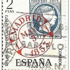Sellos: == S198 - SELLO ESPAÑA - DIA MUNDIAL DEL SELLO 1973 - 2 PTA. Lote 122494279