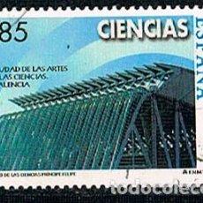 Sellos: EDIFIL Nº 3711, MUSEO DE CIENCIAS PRINCIPE FELIPE, CIUDAD DE LAS ARTES Y LAS CIENCIAS VALENCIA USADO. Lote 122813423