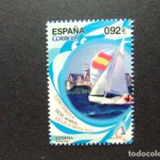Sellos: ESPAÑA ESPAGNE 2014 DEPORTES - SANTANDER SEDE MUNDIAL VELA OLIMPICA EDIFIL 4904 ** MNH. Lote 123080331