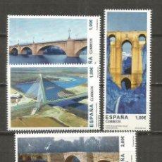 Sellos: ESPAÑA PUENTES EDIFIL N. 4803/4806 ** SERIE COMPLETA SIN FIJASELLOS. Lote 124224059