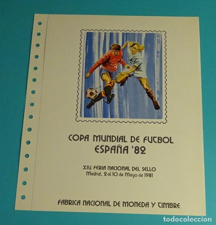 HOJA 15 ANILLAS, XIV FERIA NACIONAL SELLO 1981- MUNDIAL ESPAÑA 82 (Sellos - España - Juan Carlos I - Desde 1.975 a 1.985 - Cartas)