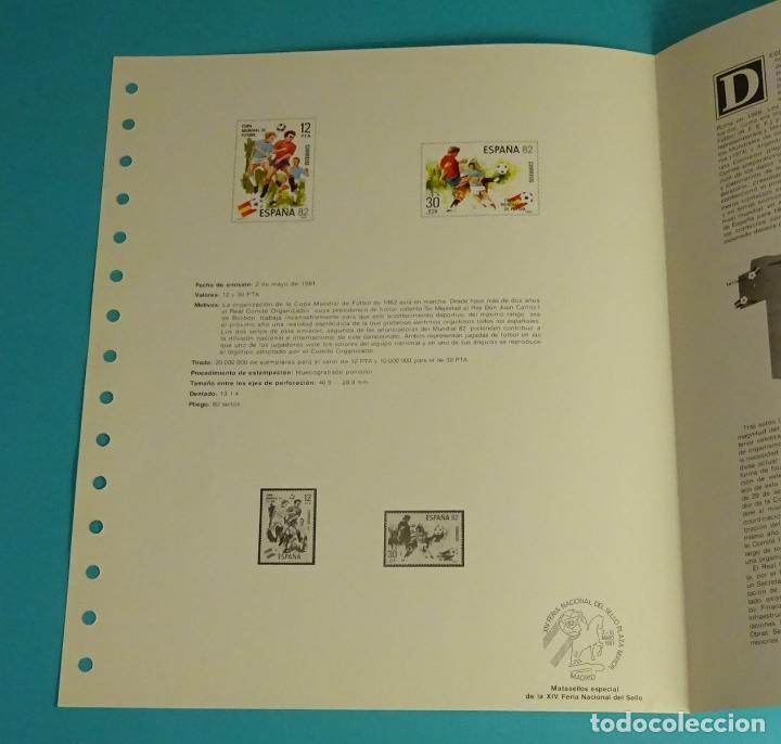 Sellos: Hoja 15 anillas, XIV Feria Nacional Sello 1981- Mundial España 82 - Foto 2 - 124524839