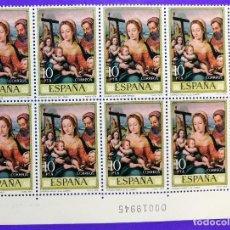 Sellos: EDIFIL 2538.DIA DEL SELLO. JUAN DE JUANES. SAGRADA FAMILIA. 10 P.1979. BLOQUE DE 8 SELLOS.NUEVOS. Lote 124571955