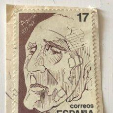 Sellos: SELLO DEDICADO AL ESCRITOR AZORÍN. ESPAÑA. 1986. USADO.. Lote 125387287