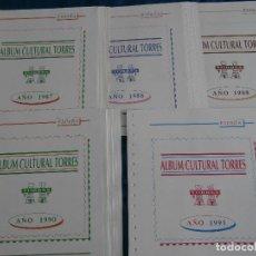 Sellos: HOJAS TORRES 1987-1991 MONTADAS EN NEGRO. Lote 125931027