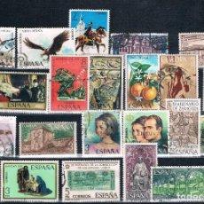Sellos: ESPAÑA 2 LOTES 48 SELLOS USADOS AÑOS 70 DOS FOTOGRAFÍAS. Lote 126596215