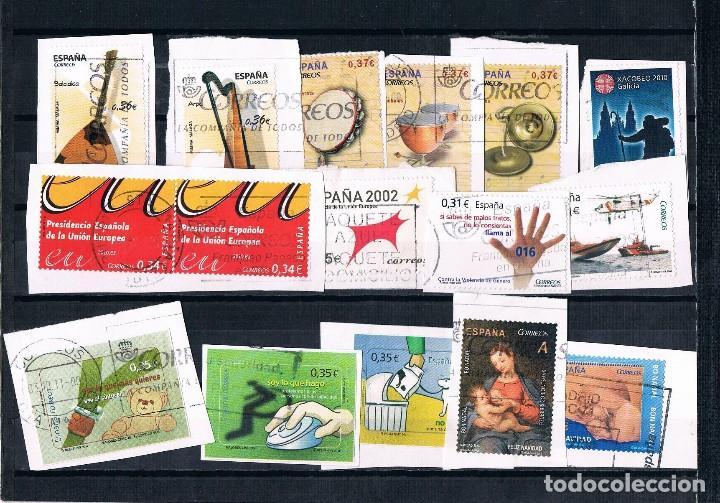 Sellos: ESPAÑA 40 SELLOS REY EMÉRITO Y DOS LOTES SELLOS EUROS USADOS 3 FOTOGRAFÍAS - Foto 3 - 126821735