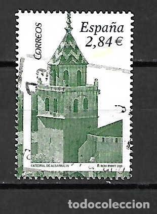 CATEDRAL DE ALBARRACÍN, TERUEL. SELLO EMIT. 15-7-2011 (Sellos - España - Juan Carlos I - Desde 2.000 - Usados)