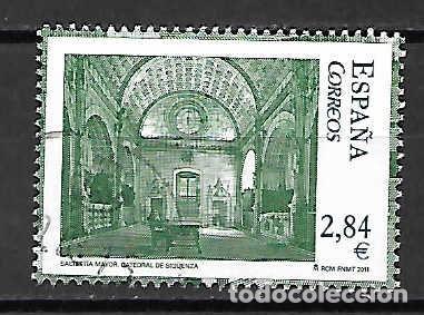 CATEDRAL DE SIGÜENZA,GUADALAJARA. SELLO EMIT. 4-3-2011 (Sellos - España - Juan Carlos I - Desde 2.000 - Usados)