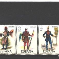 Sellos: ESPAÑA 1977 - EDIFIL NRO. 2381 A 2385 - UNIFORMES MILITARES - NUEVOS. Lote 128206195