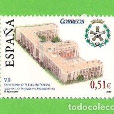 Sellos: EDIFIL 4024. 75º ANIV. DE LA ESCUELA TÉCNICA SUPERIOR DE INGENIEROS AERONÁUTICOS. (2003).** NUEVO.. Lote 128381655