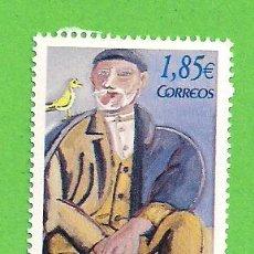Sellos: EDIFIL 4026. HOMENAJE A LUIS SEOANE. - ''VIEJO Y EL PÁJARO'' OBRA DE SEOANE. (2003).** NUEVO.. Lote 128382883