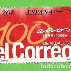 Sellos: EDIFIL 4028. DIARIOS CENTENARIOS. - ''EL CORREO DE ANDALUCÍA''. (2003).** NUEVO Y SIN FIJASELLOS.. Lote 128383171