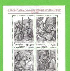 Sellos: EDIFIL 4161 H.B. IV CENT. DE ''EL INGENIOSO HIDALGO DON QUIJOTE''. (2005).** NUEVO SIN FIJASELLOS.. Lote 128437791