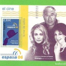 Sellos: EDIFIL 4269 H.B. EXP. MUNDIAL DE FILATELIA ESPAÑA 06. - EL CINE. (2006).** NUEVO SIN FIJASELLOS.. Lote 128459735