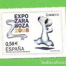 Sellos: EDIFIL 4344. EXPOSICIÓN INTERNACIONAL EXPO ZARAGOZA 2008. (2007).** NUEVO AUTOADHESIVO.. Lote 128647747
