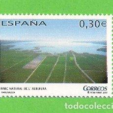 Sellos: EDIFIL 4346. NATURALEZA - PARQUE NATURAL DE LA ALBUFERA, VALENCIA. (2007).** NUEVO Y SIN FIJASELLOS.. Lote 128648011