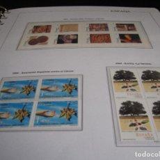 Sellos: ESPAÑA 2004. SELLOS NUEVOS EN BLOQUE DE 4 CON 4 HOJAS BLOQUE + HOJAS EDIFIL + ALBUM DE CALIDAD.. Lote 128659359