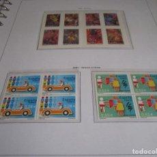 Sellos: ESPAÑA 2005. SELLOS NUEVOS EN BLOQUE DE 4 CON 4 HOJAS BLOQUE + HOJAS EDIFIL + ALBUM DE CALIDAD.. Lote 128660311