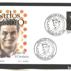 Sellos: ESPAÑA 2001 - SPD CARLOS CANO - GRANADA - NO CIRCULADA. Lote 128695283