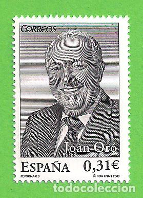 EDIFIL 4420. PERSONAJES - JOAN ORÓ I FLORENSA. (2008).** NUEVO SIN FIJASELLOS. (Sellos - España - Juan Carlos I - Desde 2.000 - Nuevos)