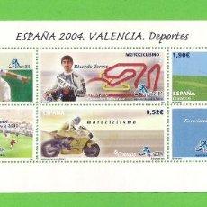 Sellos: EDIFIL 4091 H.B. EXPOSICIÓN MUNDIAL DE FILATELIA ESPAÑA. VALENCIA. (2004).** NUEVO SIN FIJASELLOS.. Lote 128759063