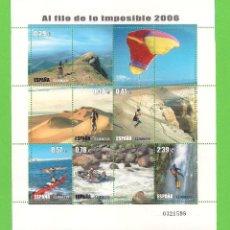 Sellos: EDIFIL 4224 H.B. DEPORTES - AL FILO DE LO IMPOSIBLE. (2006).** NUEVO SIN FIJASELLOS.. Lote 128764235